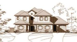 French-Country Style Home Design Plan: 19-207