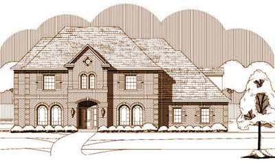 European Style Home Design Plan: 19-209