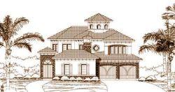 Mediterranean Style House Plans Plan: 19-224