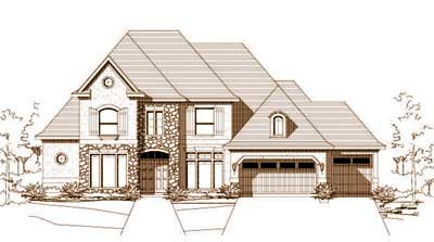 French-country Style Floor Plans Plan: 19-235