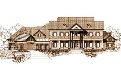 Southern-colonial Style Floor Plans Plan: 19-239