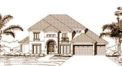 Mediterranean Style Home Design Plan: 19-253