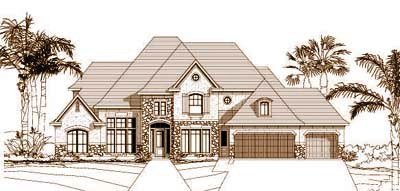 Tuscan Style House Plans Plan: 19-256