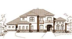 Mediterranean Style Home Design Plan: 19-324