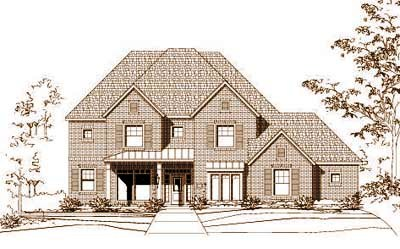 French-country Style Home Design Plan: 19-337