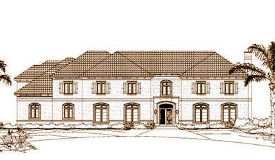 Traditional Style Home Design Plan: 19-345