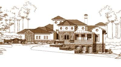 Mediterranean Style House Plans Plan: 19-367