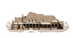 French-Country Style Floor Plans Plan: 19-373