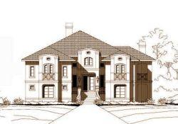 Mediterranean Style Home Design Plan: 19-378