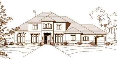 Mediterranean Style House Plans Plan: 19-381