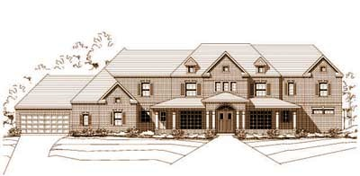 Country Style Home Design Plan: 19-391