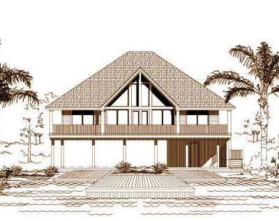 Coastal Style House Plans Plan: 19-403