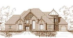 French-Country Style Home Design Plan: 19-435