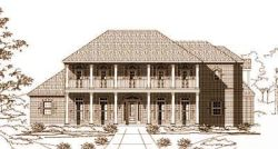 Southern-Colonial Style Floor Plans Plan: 19-437