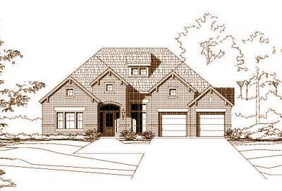 Traditional Style Home Design Plan: 19-442