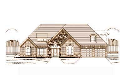 French-country Style Floor Plans Plan: 19-448