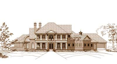 Southern-colonial Style Floor Plans Plan: 19-466