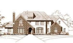French-Country Style Home Design Plan: 19-470