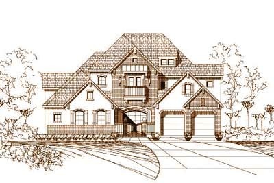 French-country Style House Plans Plan: 19-474