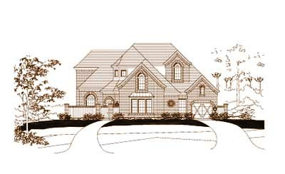 French-country Style Home Design Plan: 19-480