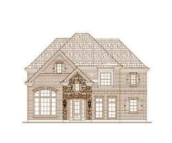 French-Country Style Home Design Plan: 19-482