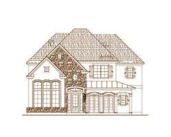 French-Country Style Floor Plans Plan: 19-483