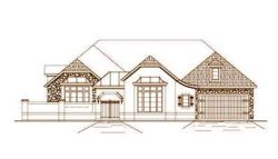 French-Country Style Home Design Plan: 19-485