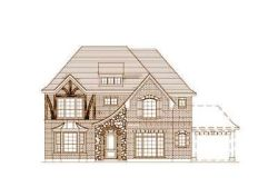 European Style Home Design Plan: 19-496