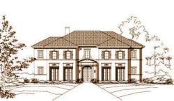 French-Country Style Home Design Plan: 19-522