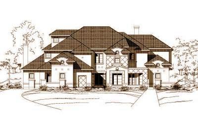 Mediterranean Style Home Design Plan: 19-540