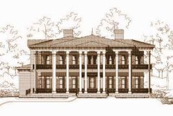 Georgian Style Floor Plans Plan: 19-549