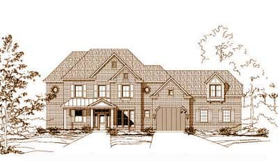 Traditional Style Home Design Plan: 19-564