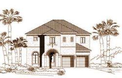 Mediterranean Style Home Design Plan: 19-577