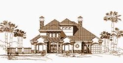 Mediterranean Style House Plans Plan: 19-583