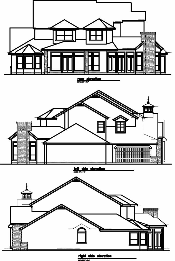 Rear Elevation Plan: 19-608