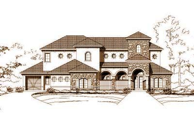 Tuscan Style Floor Plans Plan: 19-609