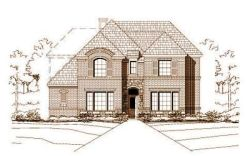 French-Country Style Home Design Plan: 19-624