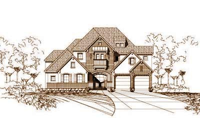French-country Style Floor Plans Plan: 19-639
