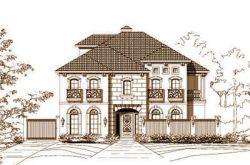 Tuscan Style Home Design Plan: 19-646
