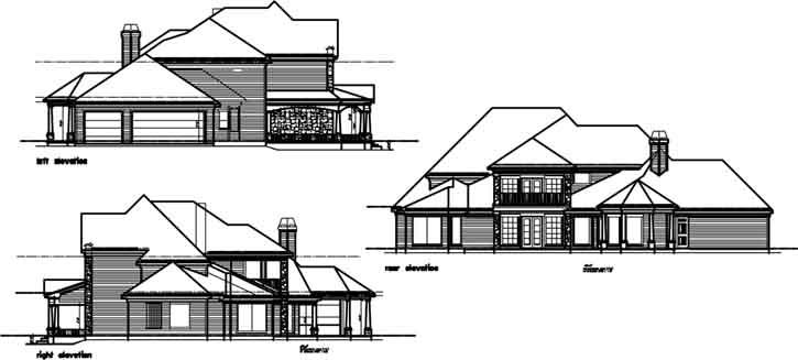 Rear Elevation Plan: 19-678