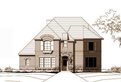 French-country Style Floor Plans Plan: 19-716