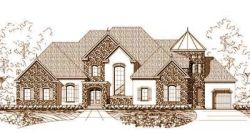 French-Country Style House Plans Plan: 19-719