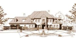 French-Country Style Floor Plans Plan: 19-724