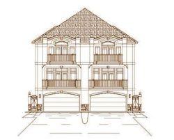 Mediterranean Style Home Design Plan: 19-725