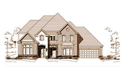 French-Country Style House Plans Plan: 19-732