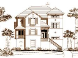 Coastal Style House Plans Plan: 19-738