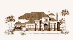 Tuscan Style House Plans Plan: 19-740