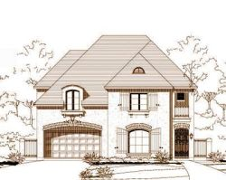 French-Country Style Floor Plans Plan: 19-747