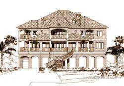 Coastal Style Home Design Plan: 19-748