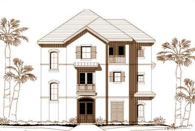 Coastal Style Floor Plans Plan: 19-750